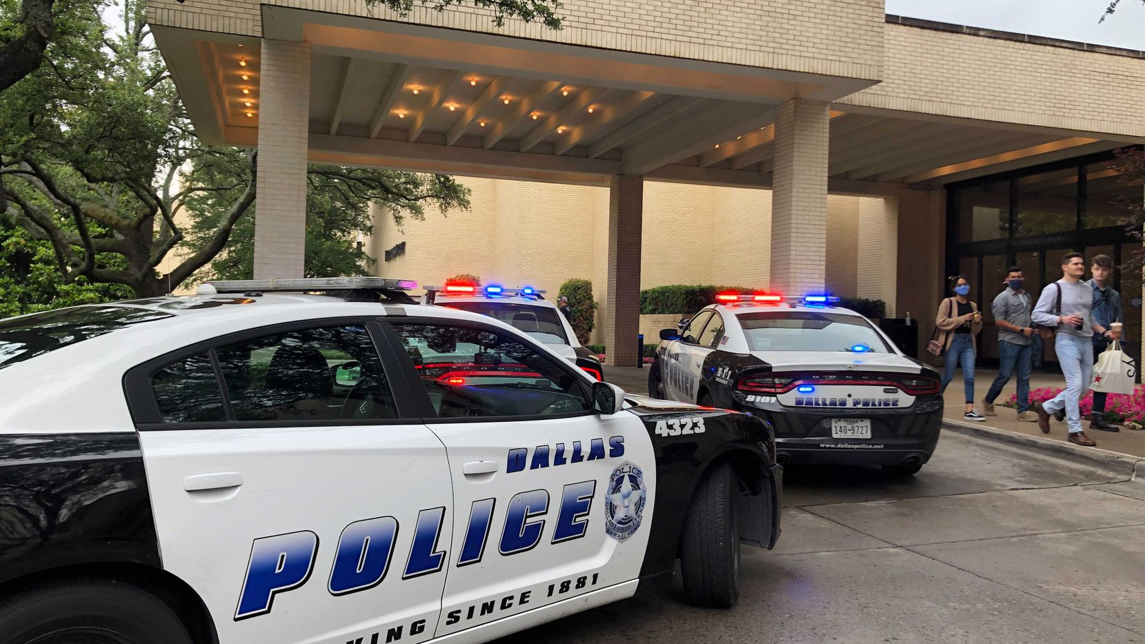 There was a heavy police presence as NorthPark Center as authorities investigated the report of a shooting Monday afternoon.