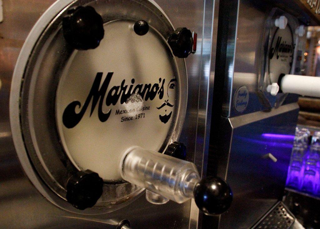 A frozen margarita machine at Mariano's Hacienda in Dallas