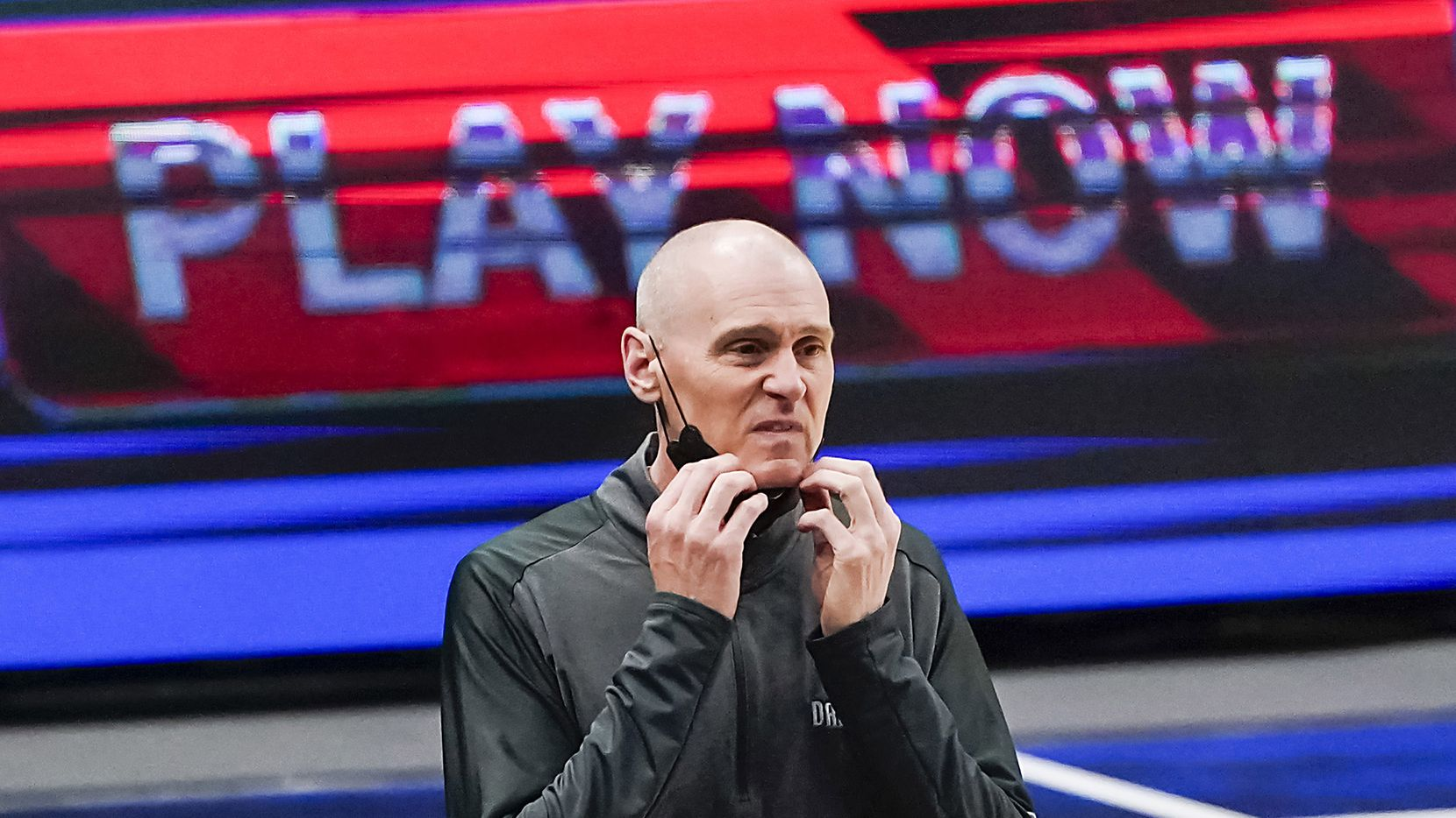 Dallas Mavericks head coach Rick Carlisle watches from the bench during the first quarter of an NBA basketball game against the Los Angeles Clippers at American Airlines Center on Wednesday, March 17, 2021, in Dallas.