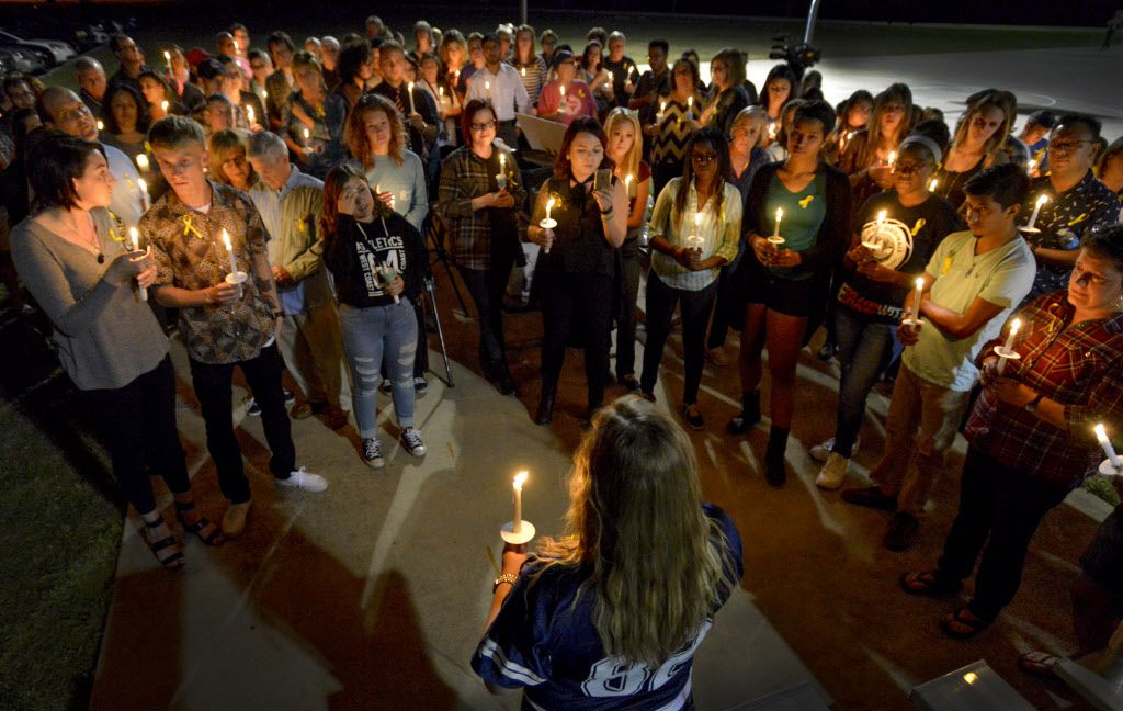 Friends and family of Zuzu Verk, who attended Keller's Timber Creek High School, gather in a prayer vigil at Bear Creek Park in Keller, Texas on October 24, 2016 to pray for Zuzu. Verk, a junior at Sul Ross State University disappeared on October 12 and volunteers and law enforcement agenices have been searching Brewster County and the surrounding area for several days. (Robert W. Hart/Special Contributor)