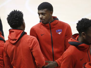 Darius McNeill looks on during the second half at Moody Coliseum  in University Park, Texas, Tuesday, November 5, 2019. SMU won, 74-65. (Tom Fox/The Dallas Morning News)