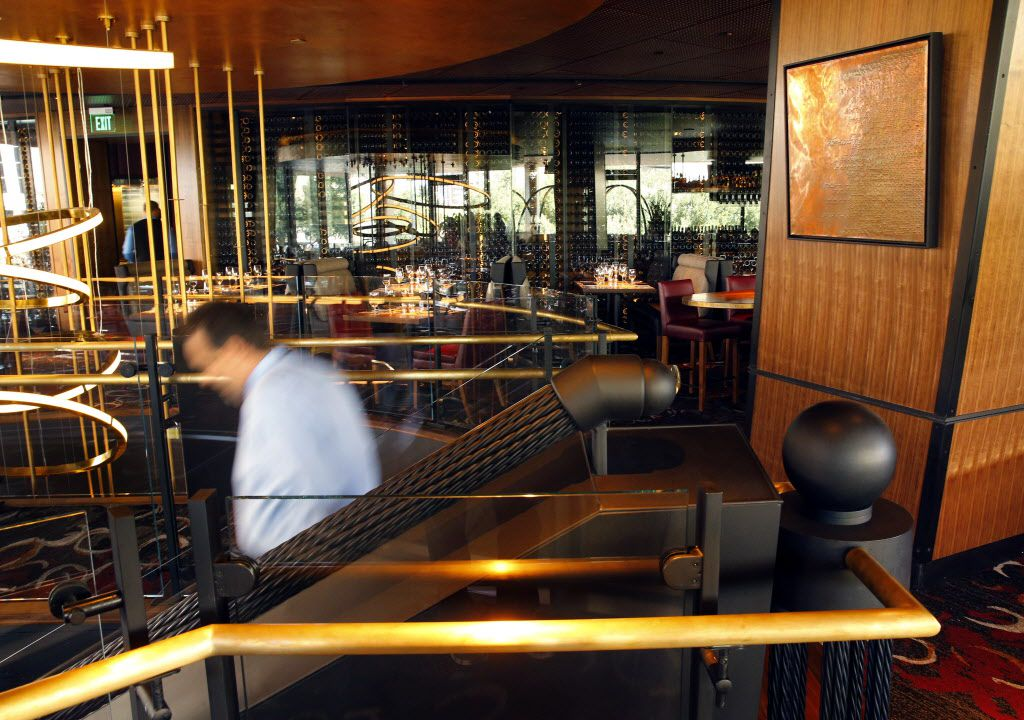 The upper dining area is pictured near the stairwell of the new Del Frisco's Double Eagle Steak House in Uptown Dallas, Friday, September 9, 2016. The original, located on Spring Valley since 1994, has closed and the new one opens Saturday. (Tom Fox/The Dallas Morning News)
