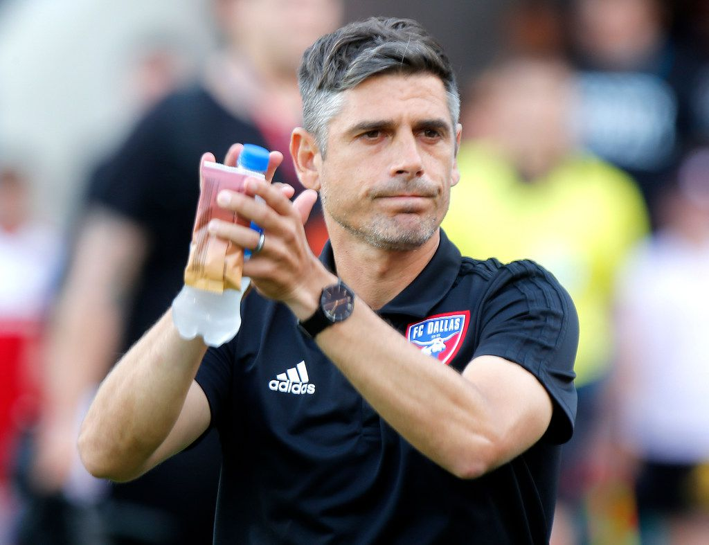 FC Dallas head coach Luchi Gonzalez enters the pitch before the match as FC Dallas hosted Toronto FC at Toyota Stadium in Frisco on Saturday, June 22, 2019.  (Stewart F. House/Special Contributor)