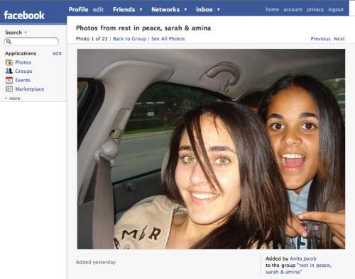 The bodies of Amina Yaser Said, 18, and Sarah Yaser Said, 17, were found in their father's taxi cab in Irving on Jan. 2, 2008. Both teens had died from multiple gunshot wounds. Their father, Yaser Abdel Said, is awaiting trial on charges of capital murder.