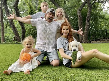 Mike and Jenn Todryk (pictured with their three children and dog Gary) purchased Nine Band Brewery in Allen.
