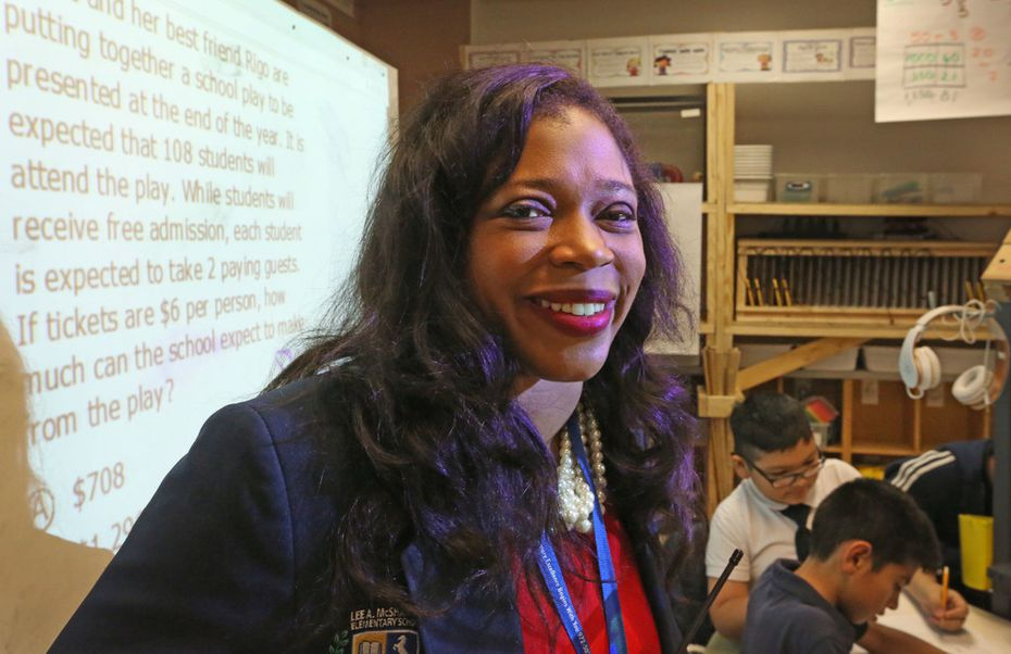 Principle Dayanna Kelly at Dallas ISD's McShan Elementary in Vickery Meadow.