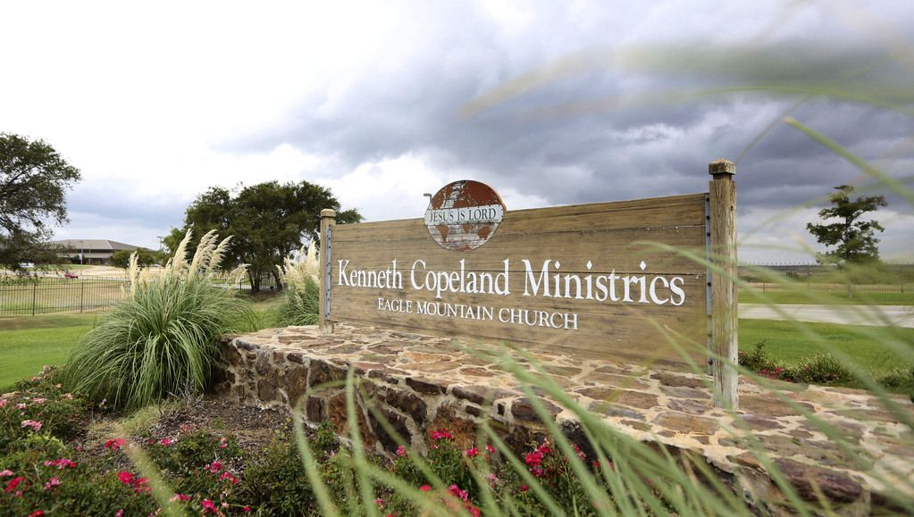 Sign outside Kenneth Copeland Ministries in northwest Tarrant County.