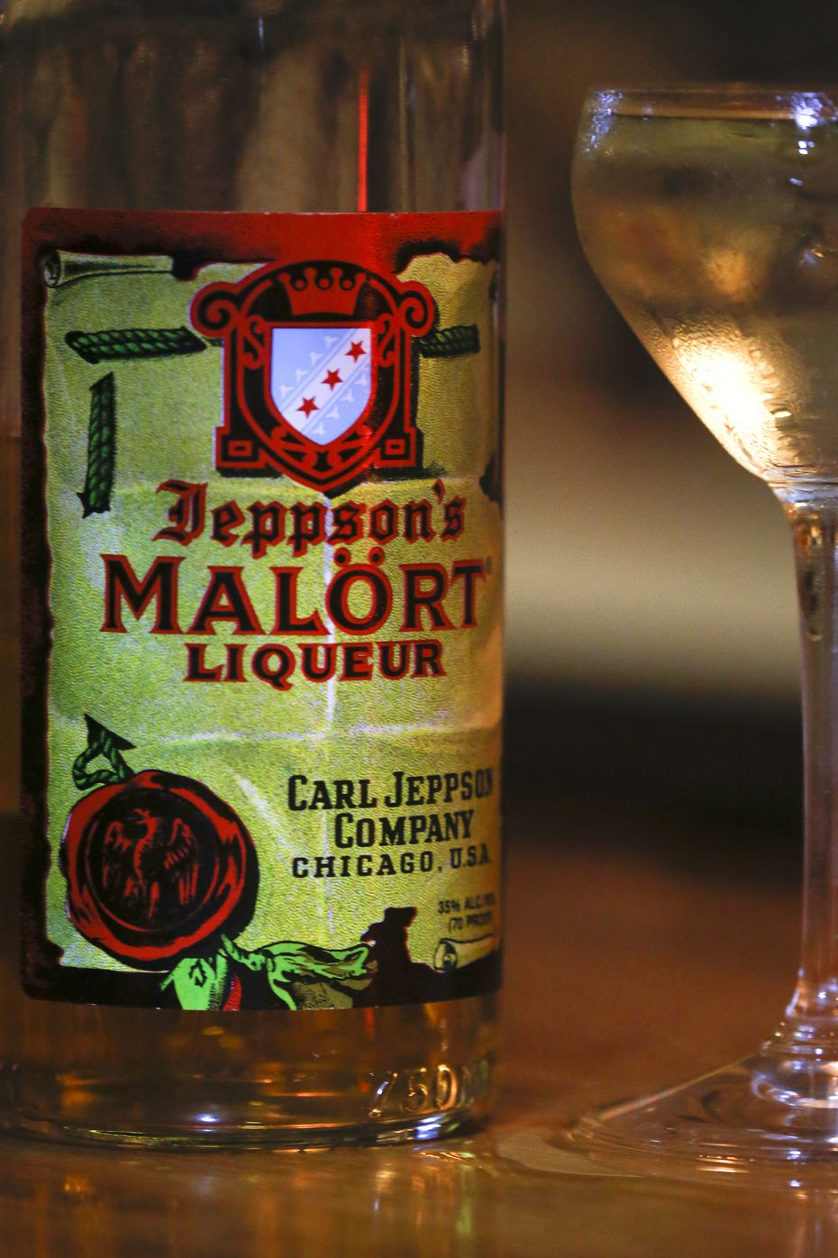 Malort, a Chicago-based, Scandinavian-style liqueur known for its off-putting taste, is seen at The Usual bar on Tuesday, Jan. 14, 2020 in Fort Worth.