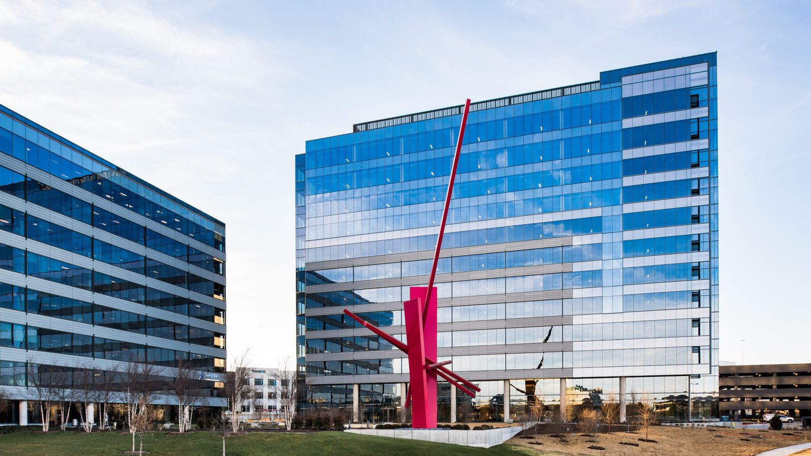 Common Desk is taking office space in the 3201 Dallas Parkway building in Frisco's Hall Park.