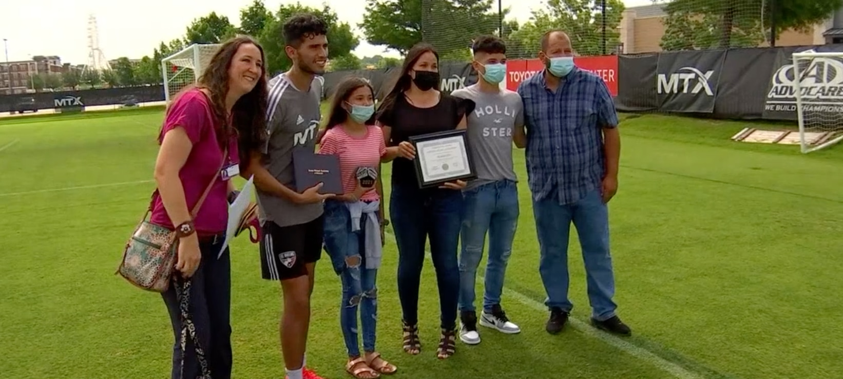 Beni Redžić and his family celebrated his graduation during an FC Dallas practice last week.