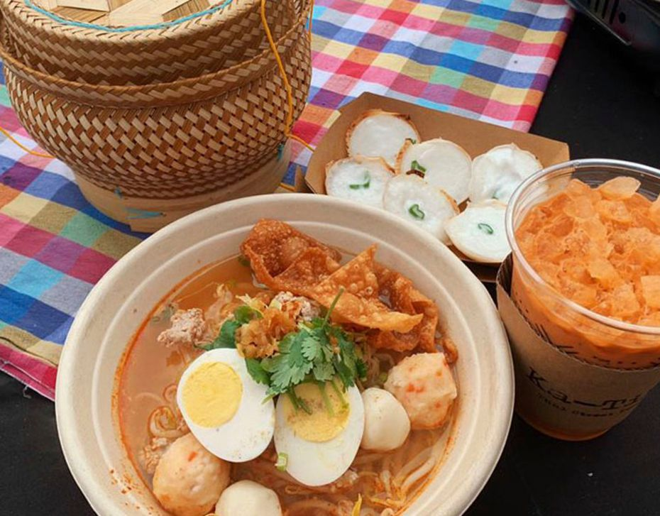 At Ka-Tip, some of the items the team might serve include tom yum moo sub (noodle soup with ground pork); kanom krok (coconut pancake) and Thai tea.
