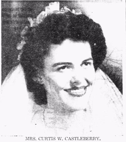 Vivian Castleberry's 1946 wedding announcement