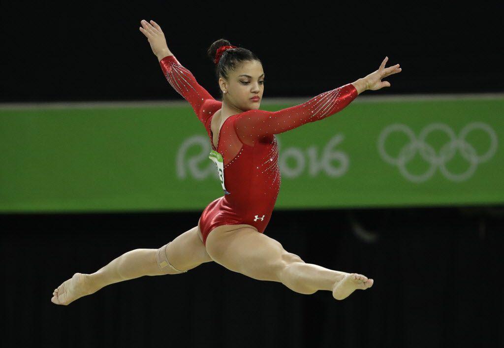 Laurie Hernandez durante su presentación en Río 2016. Dmitri Lovetsky/AP