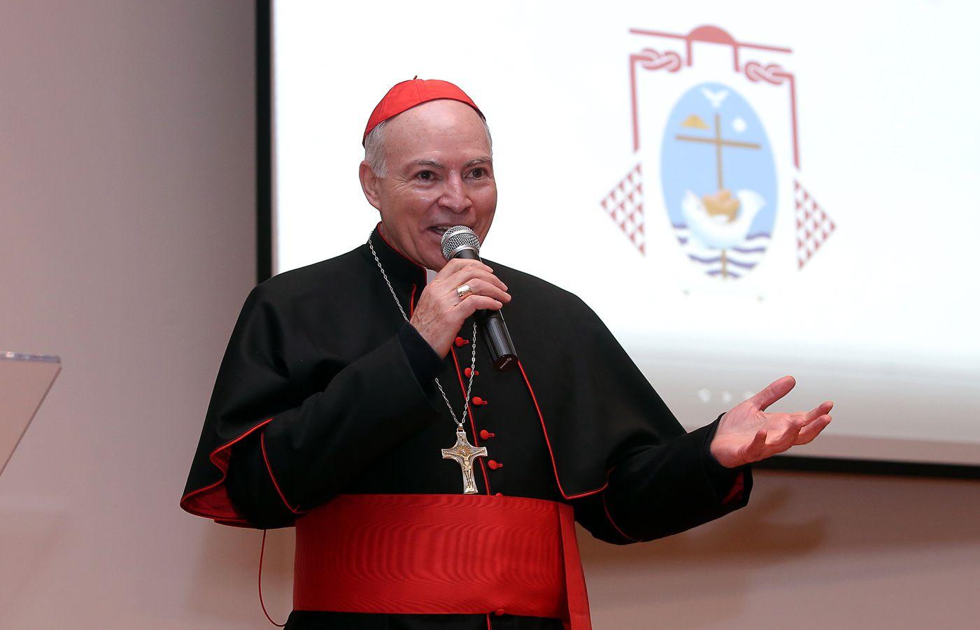 El cardenal Carlos Aguiar. AGENCIA REFORMA