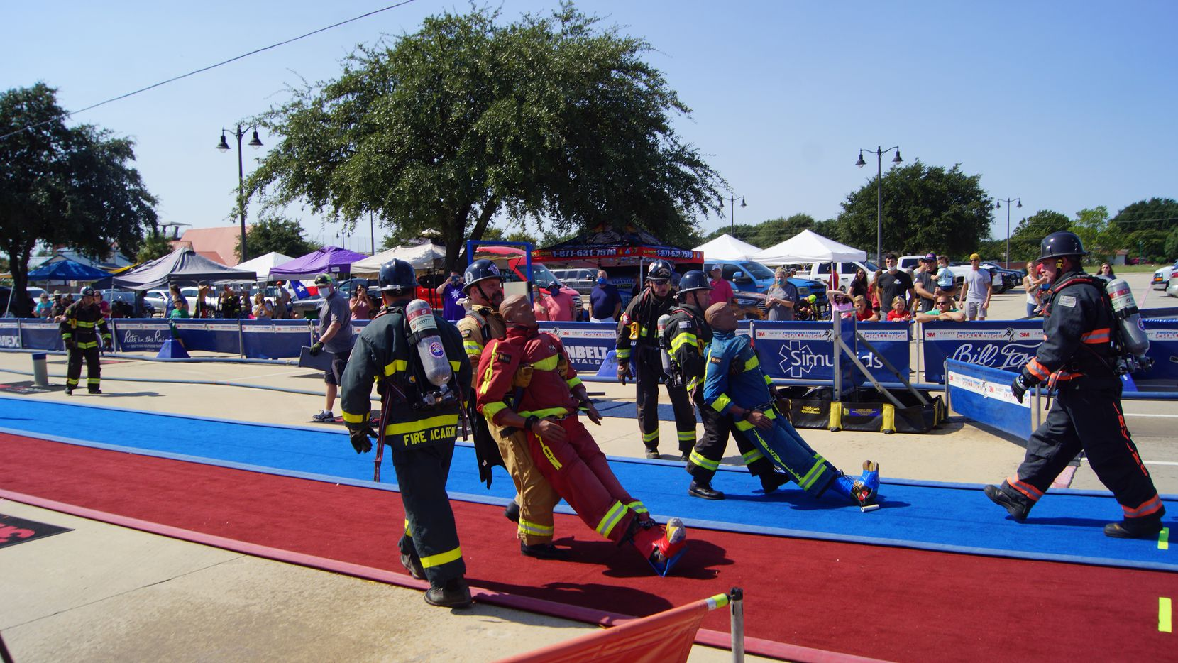 Firefighters compete at a previous Firefighter Combat Challenge, which in 2020 is taking place in Irving from Oct. 22-25.