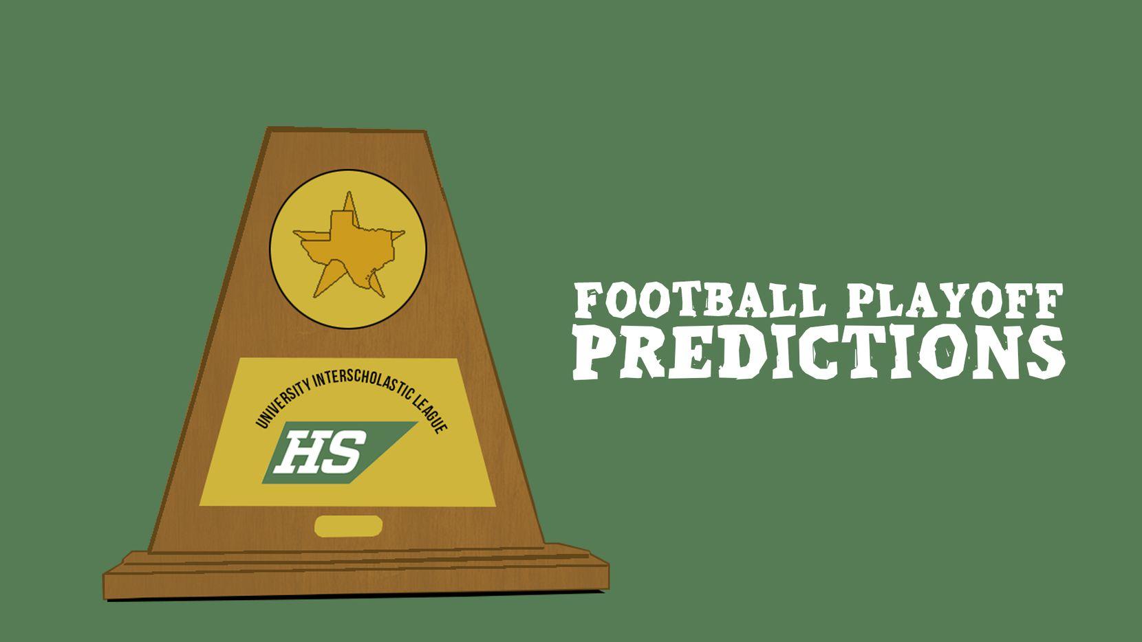 Football playoff predictions.