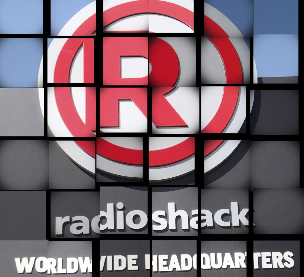 Photo illustration of RadioShack Worldwide Headquarters sign at its corporate campus in downtown Fort Worth. (David Kent/Fort Worth Star-Telegram)