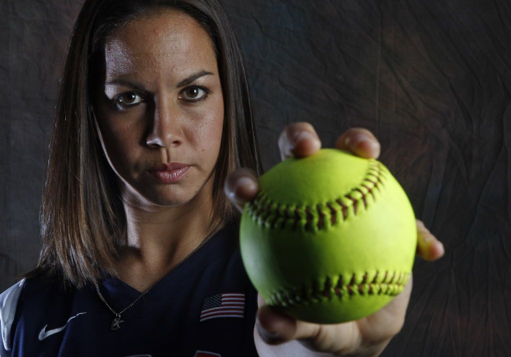 USA softball Olympics pitcher Cat Osterman poses during a portrait session at the USOC Olympic Summit.