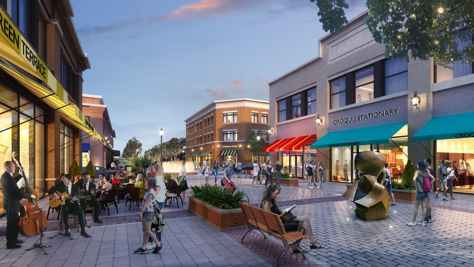 One of the retail streets planned in the Fields community.