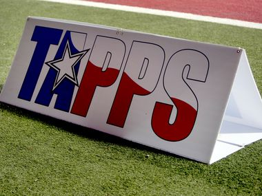 A sign with the TAPPS logo.