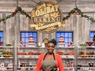 Kess Eshun, of Frisco, competes in the Holiday Baking Championship, Season 7.