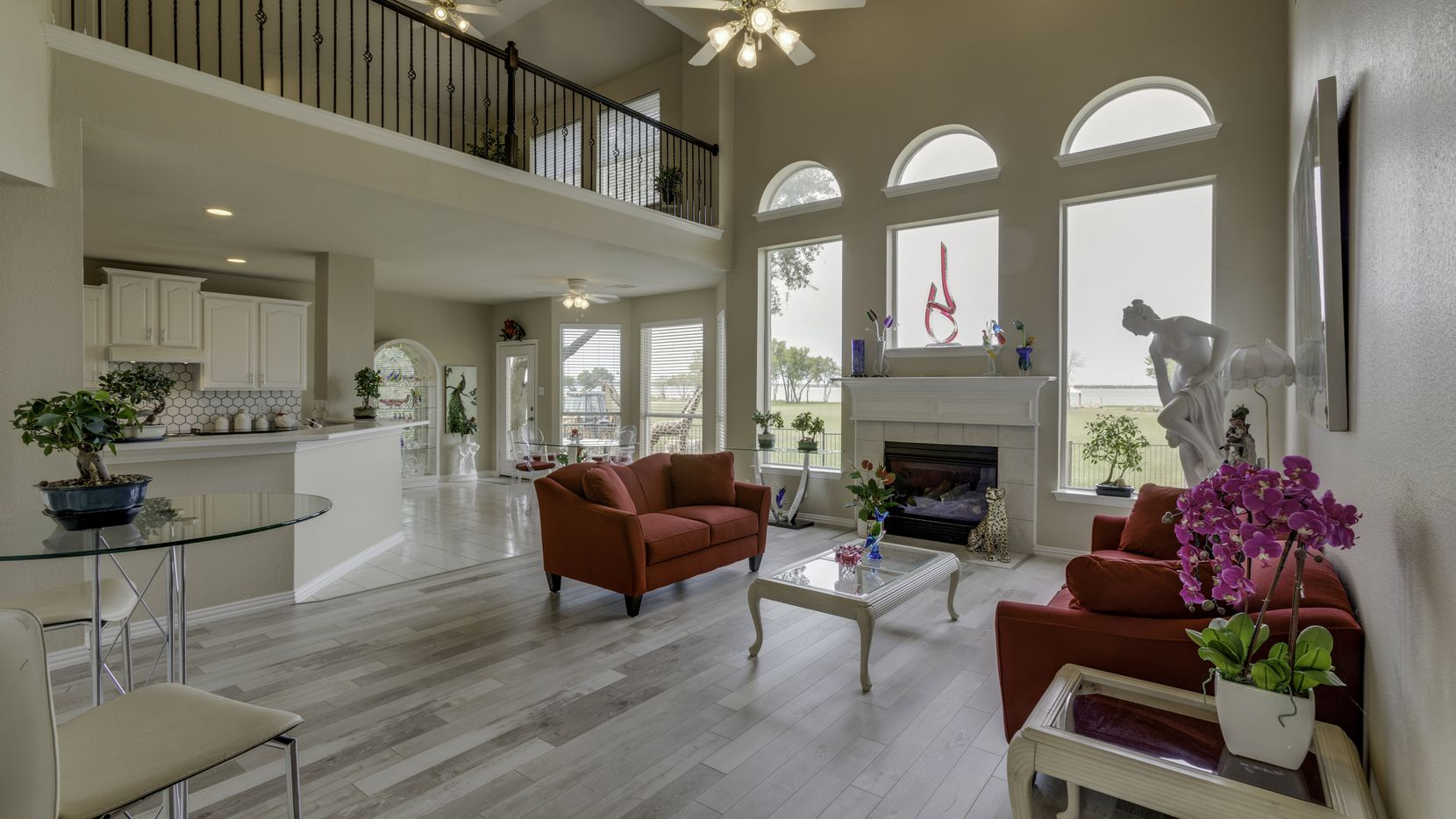 The home at 749 Turtle Cove Blvd. in Rockwall features views of Lake Ray Hubbard.