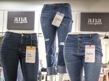 The a.n.a. display at the J.C. Penney in Frisco's Stonebriar Centre. In early February, before the pandemic, Penney relaunched its a.n.a. brand of denim for women to provide a wide range of styles and sizes for shoppers.