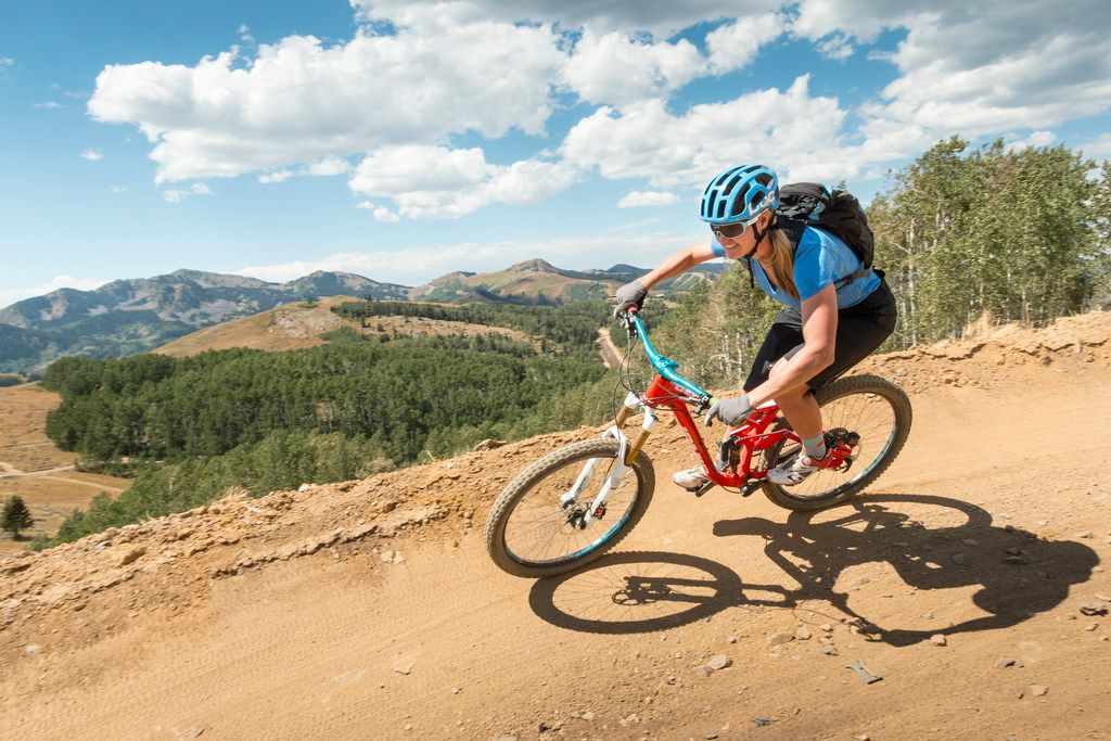 Mountain biking is a popular activity in Park City, Utah. The region boasts panoramic loops and technically challenging downhill trails.