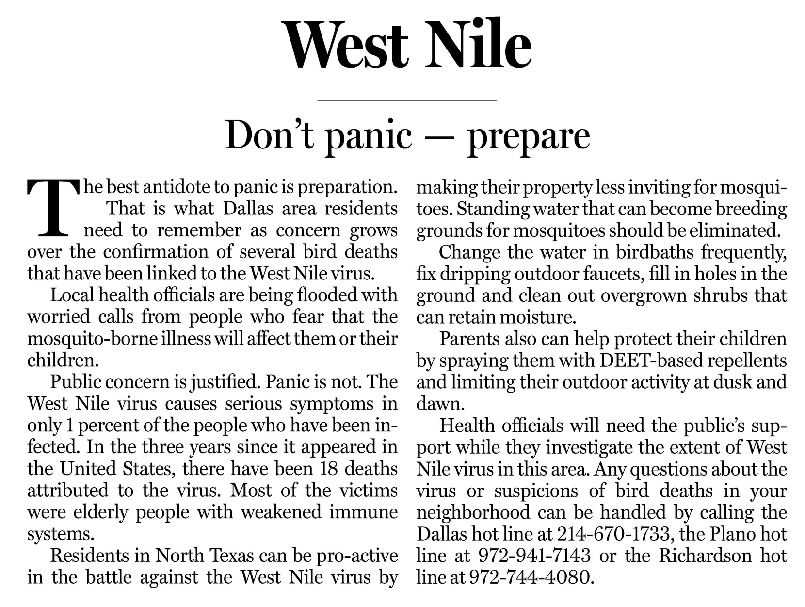 Don't forget your mask, or mosquito repellent: Dallas residents ...