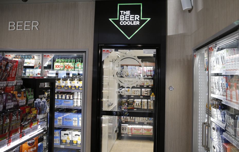7-Eleven's evolution stores are testing the walk-in beer cooler that other retailers have tried lately.