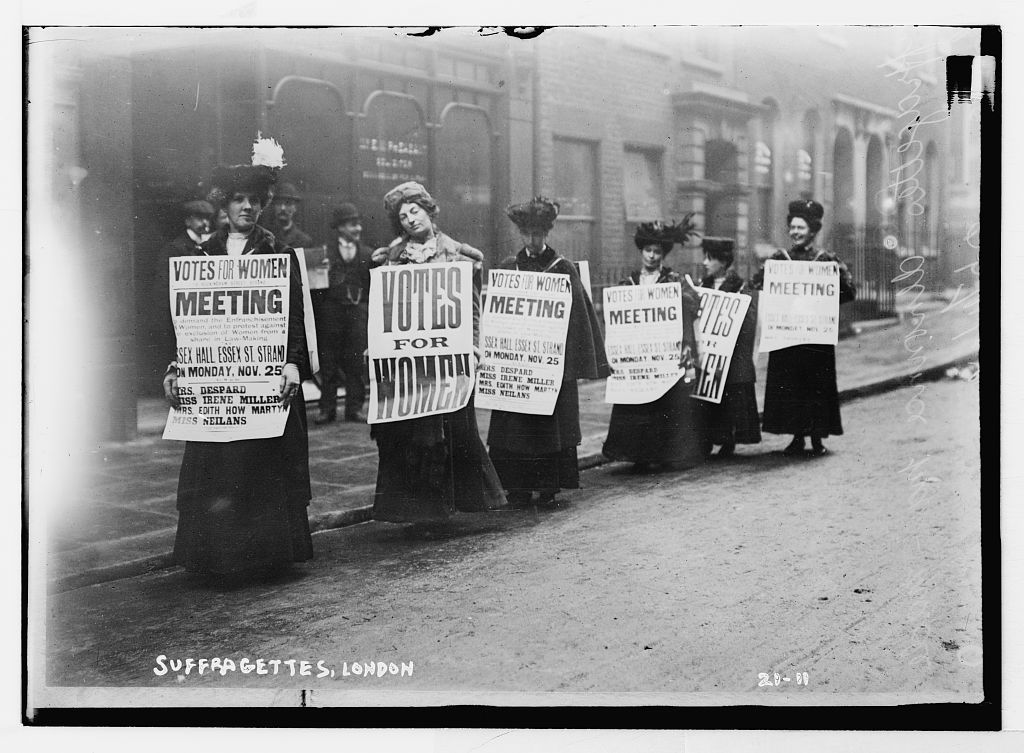 Suffragettes protest in London.