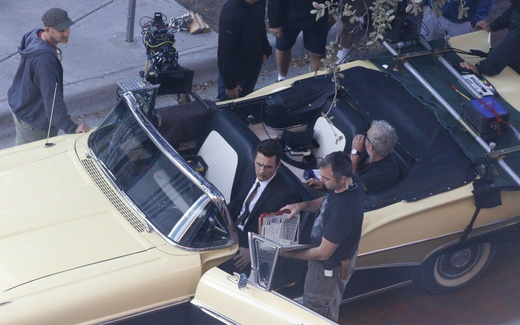 James Franco durante la filmación de una serie en el centro de Dallas/ David Woo/The Dallas Morning News