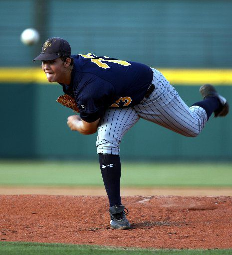 Clayton Kershaw in May 2006, when he was still a hurler for the Highland Park Scots.