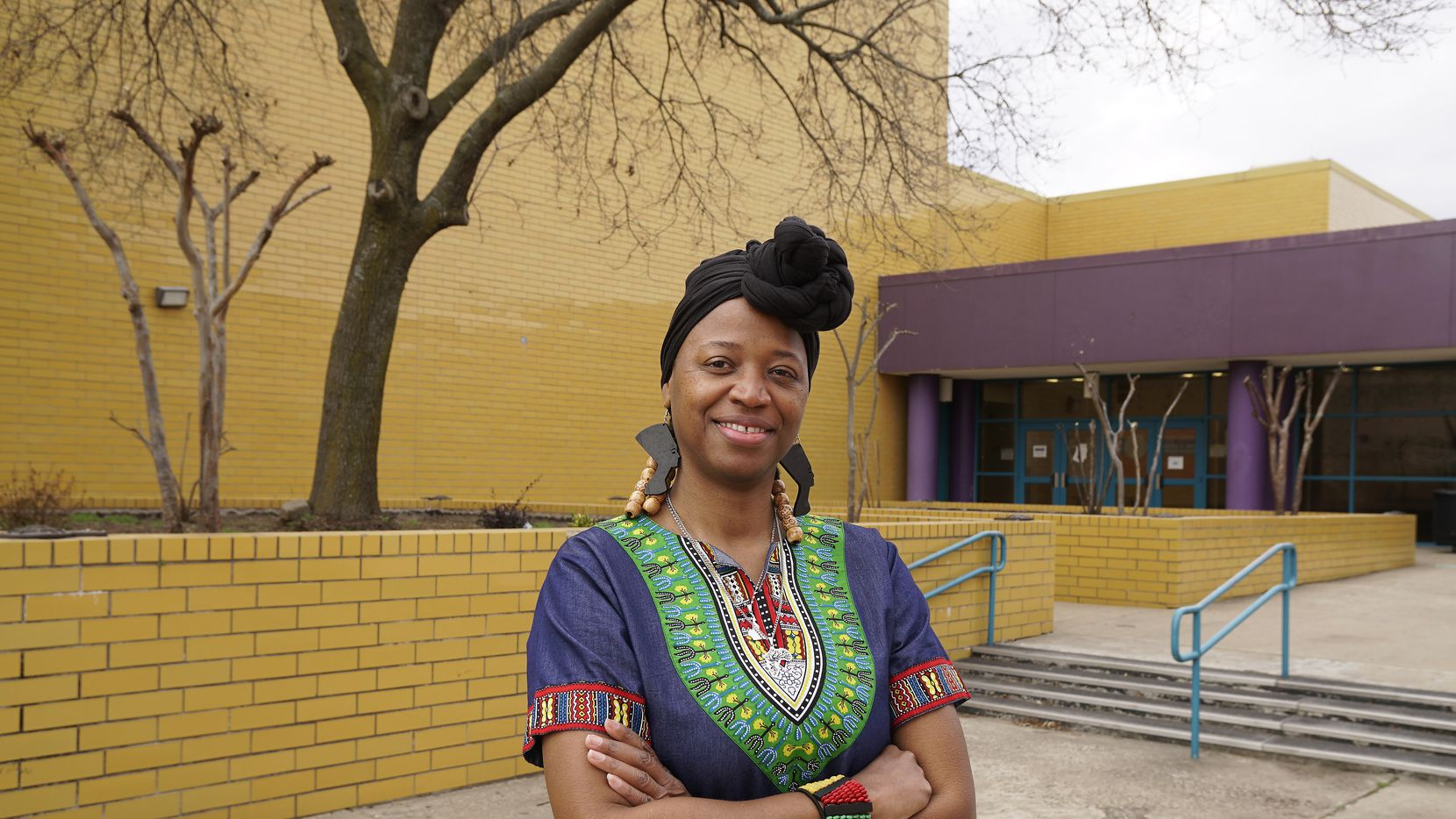 Molina High School African American Studies teacher Tracy Smith at the school in Duncanville, Texas on Friday, February 5, 2021.