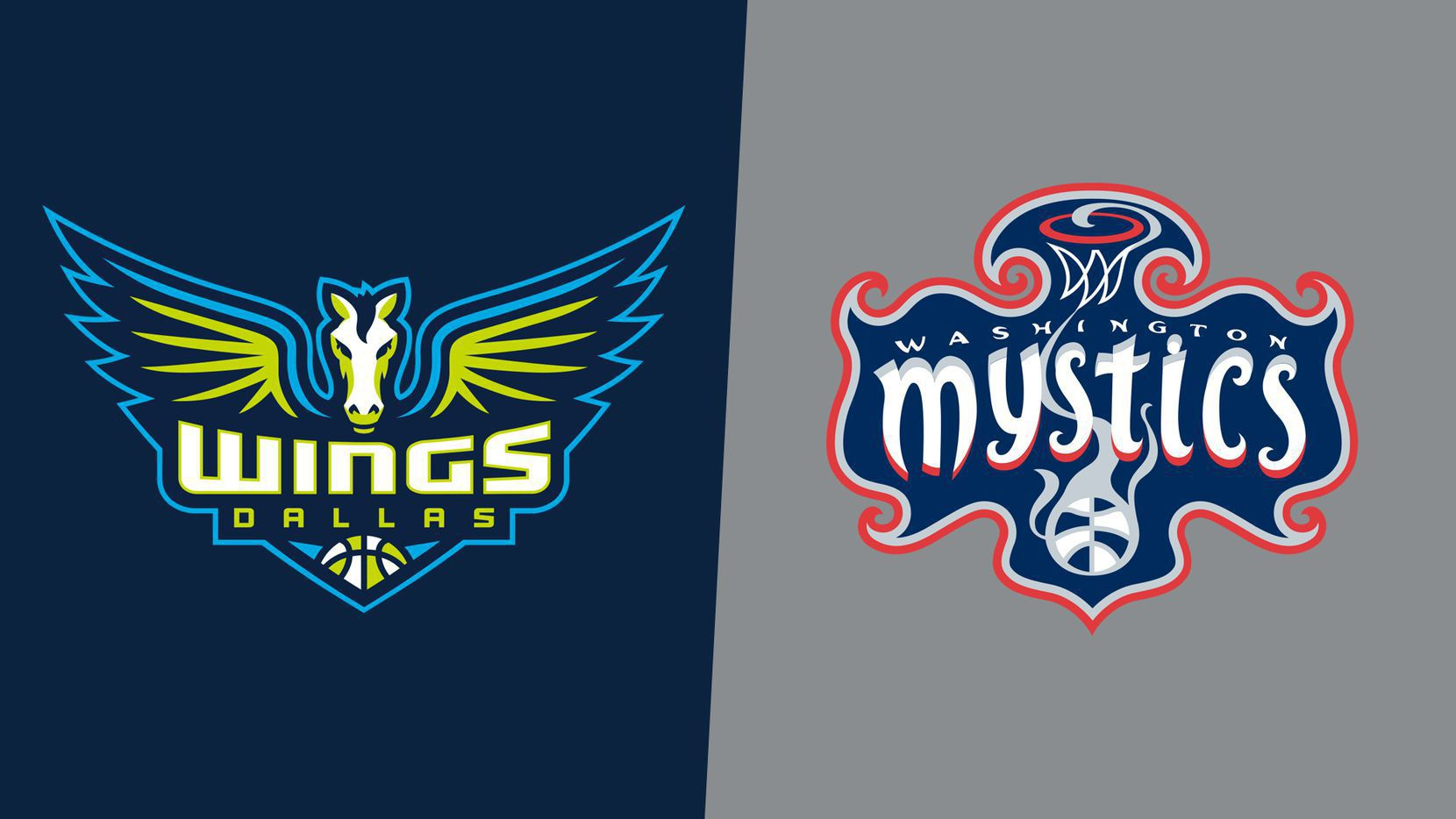 Dallas Wings/Washington Mystics logos