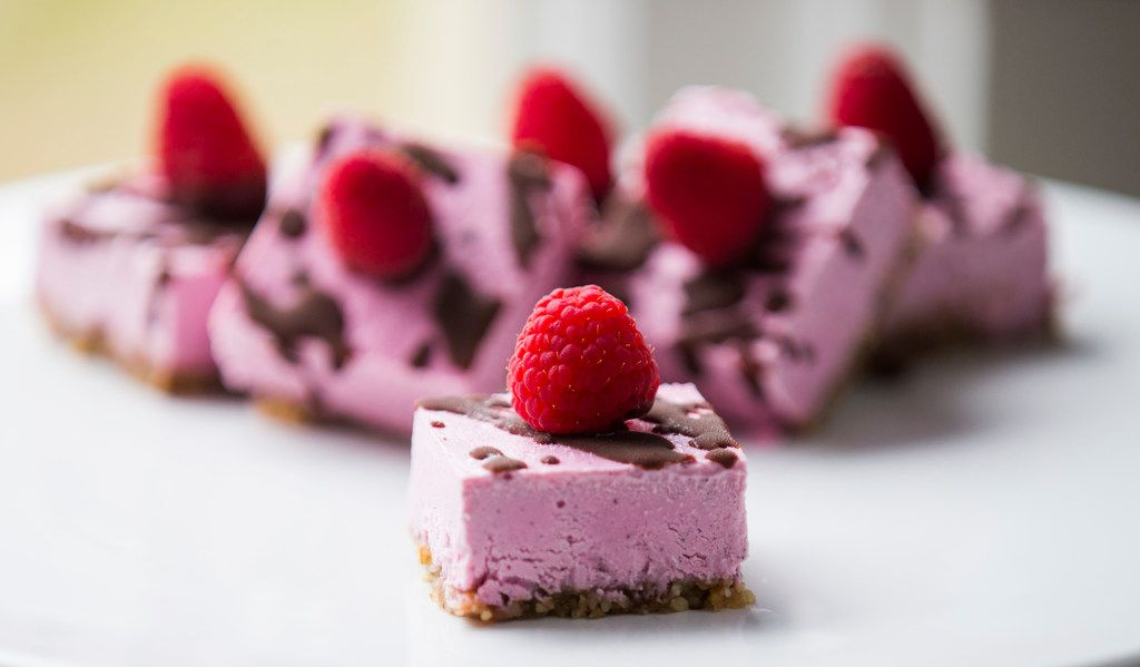 Dragon fruit dessert bars made by Cat Ruehle