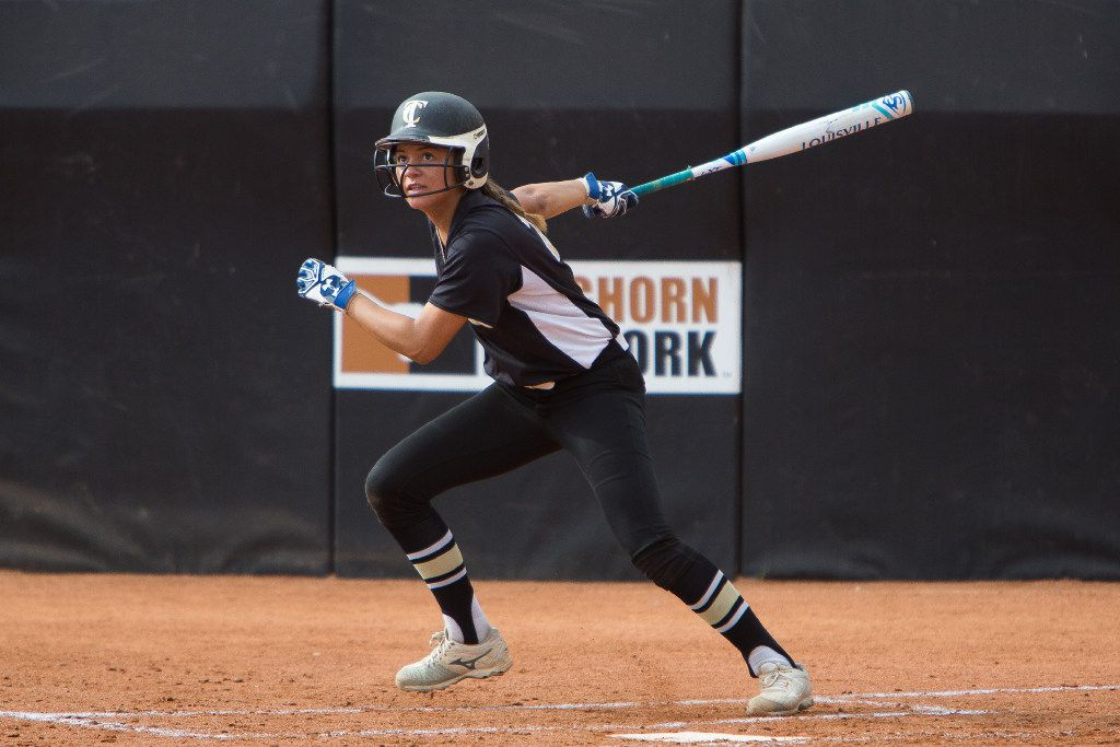 Jayda Coleman is hitting .846 for The Colony after the first week of the season.  (Julia Robinson/Special Contributor)