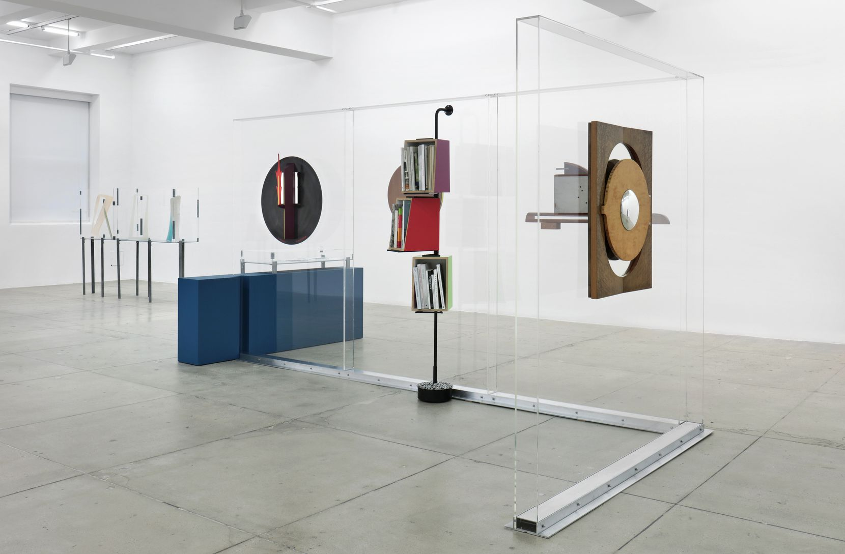 """Nairy Baghramian. """"Installation view Work desk for an Ambassador's Wife,"""" Marian Goodman Gallery NY, 2019."""