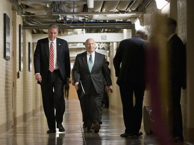 """Rep. Kevin Brady (center)  has said he'll work to """"advance Speaker Ryan's pro-growth agenda and help lift this country and its people into greater prosperity."""""""