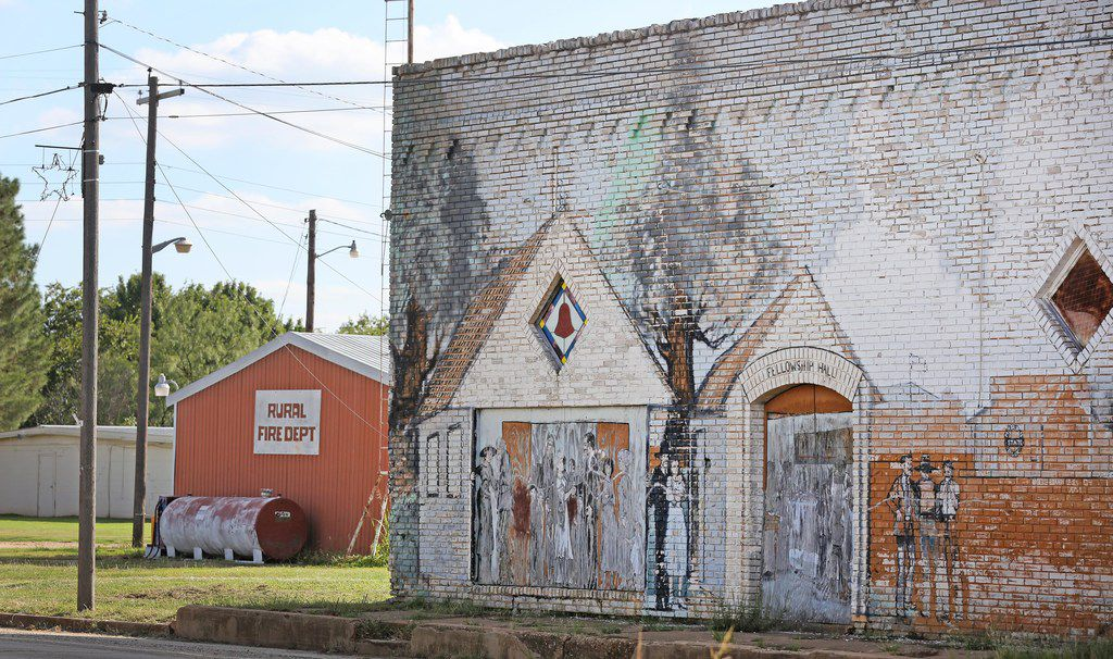 A look at deserted downtown Moran, Texas, photographed on Thursday, October 5, 2017. (Louis DeLuca/The Dallas Morning News)