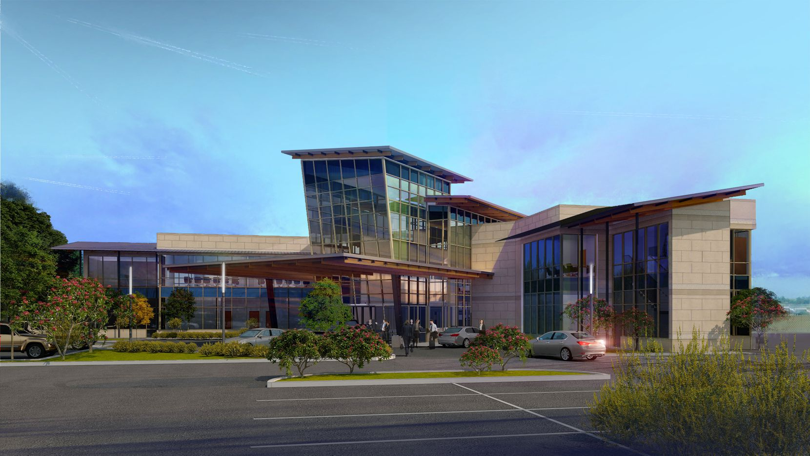 The new executive terminal at McKinney airport will open later this year.