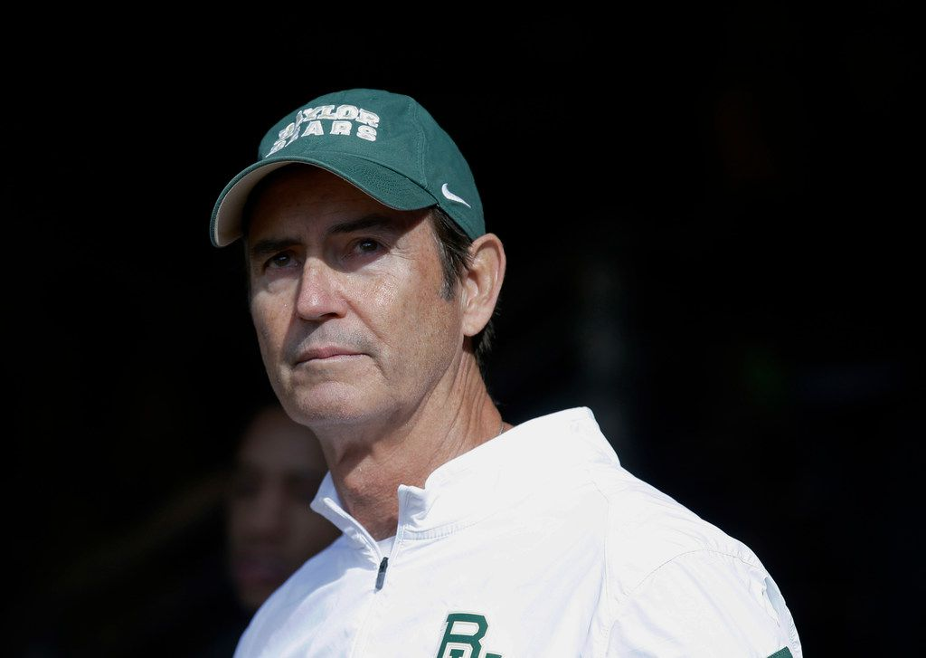 In this Dec. 5, 2015, file photo, Baylor coach Art Briles stands in the tunnel before the team's NCAA college football game against Texas in Waco, Texas.