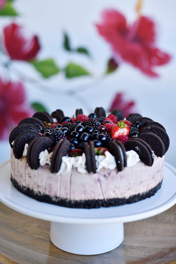 Berry Oreo Cheesecake from Val's Cheesecakes in Dallas