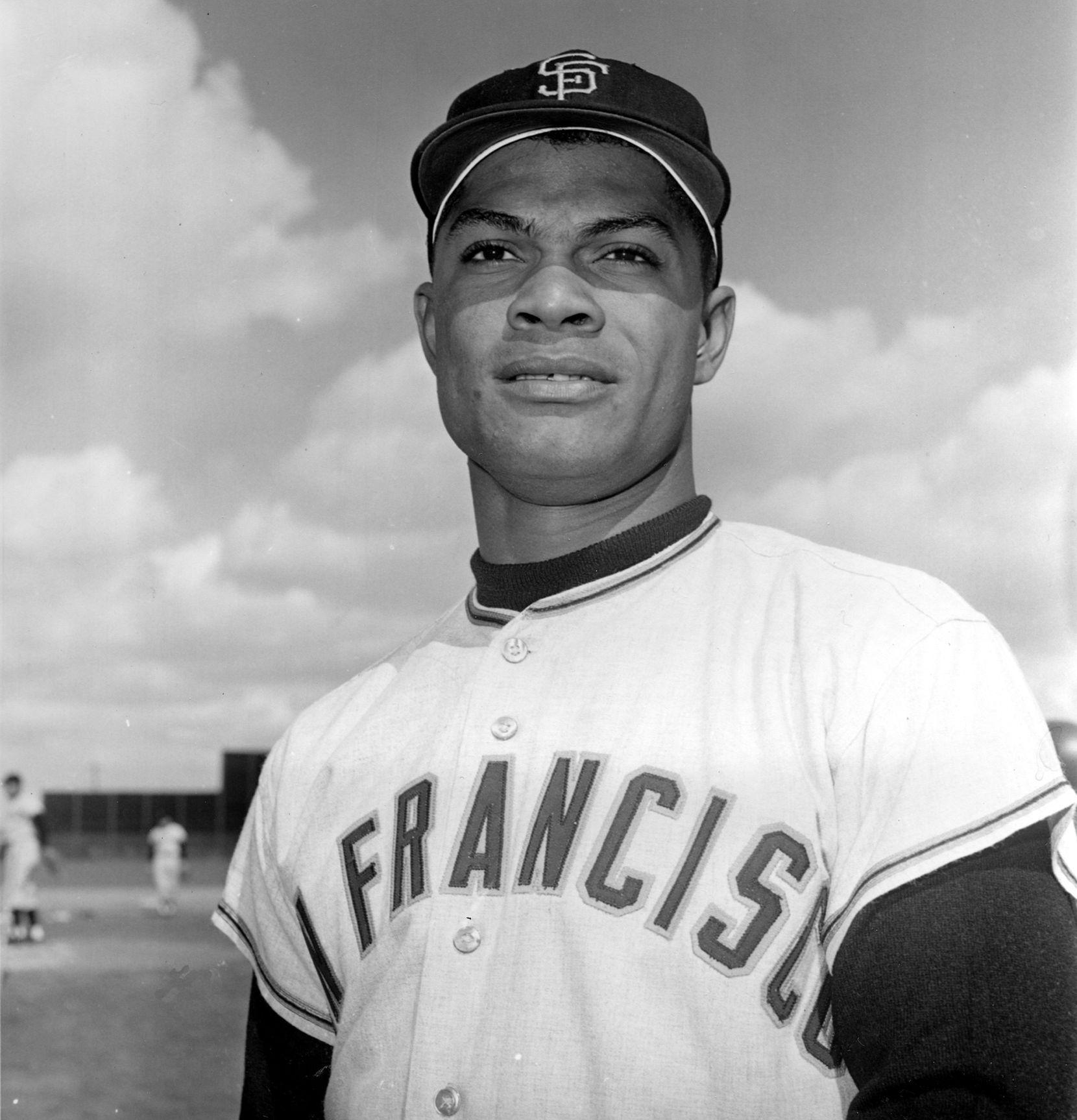 Foto del 8 de marzo de 1962 del dominicano Felipe Alou, cuando jugaba como jardinero para los Giants de San Francisco. Foto archivo AP