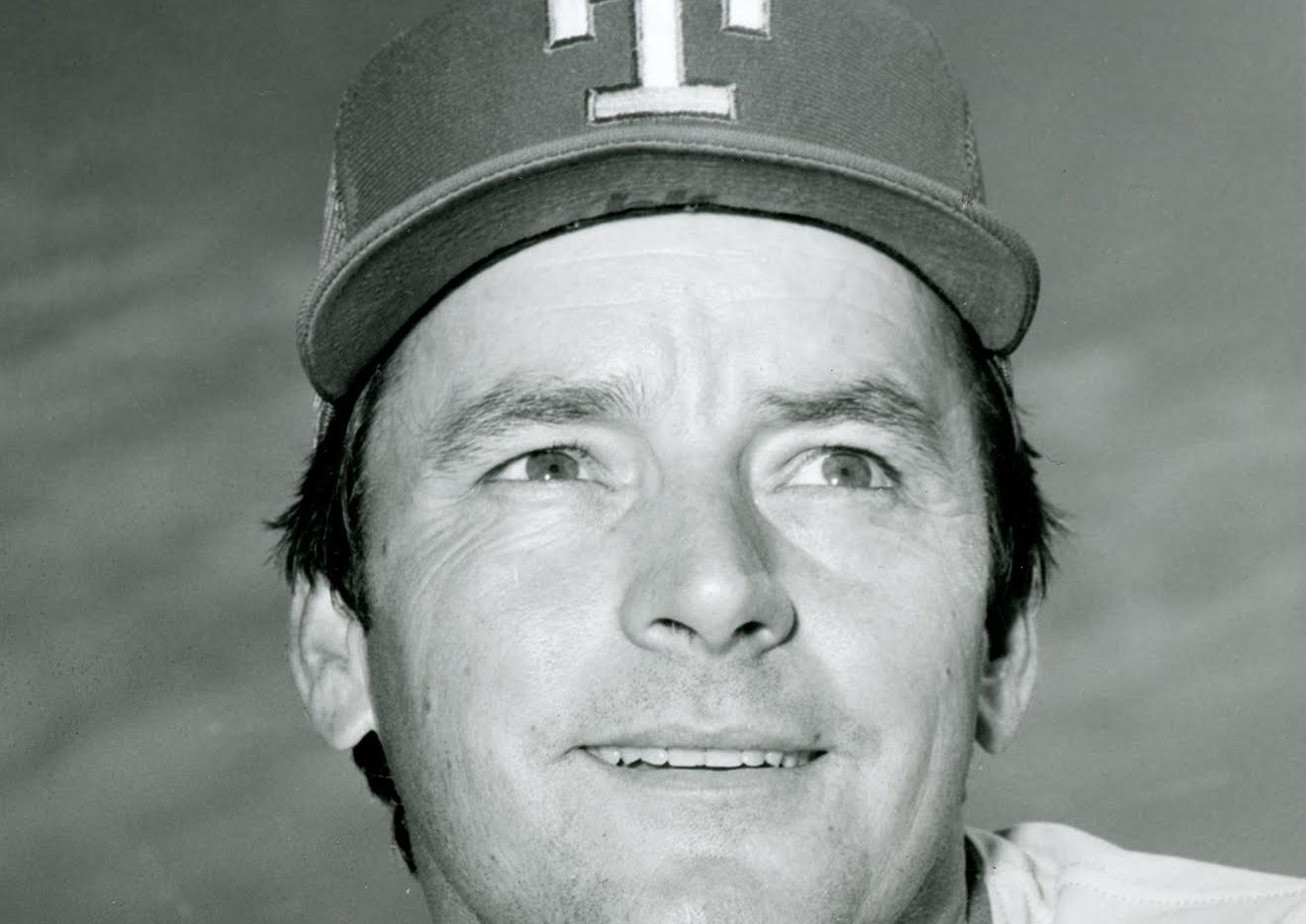 Jackie Brown, pictured in 1981 during his tenure as Texas Rangers pitching coach.