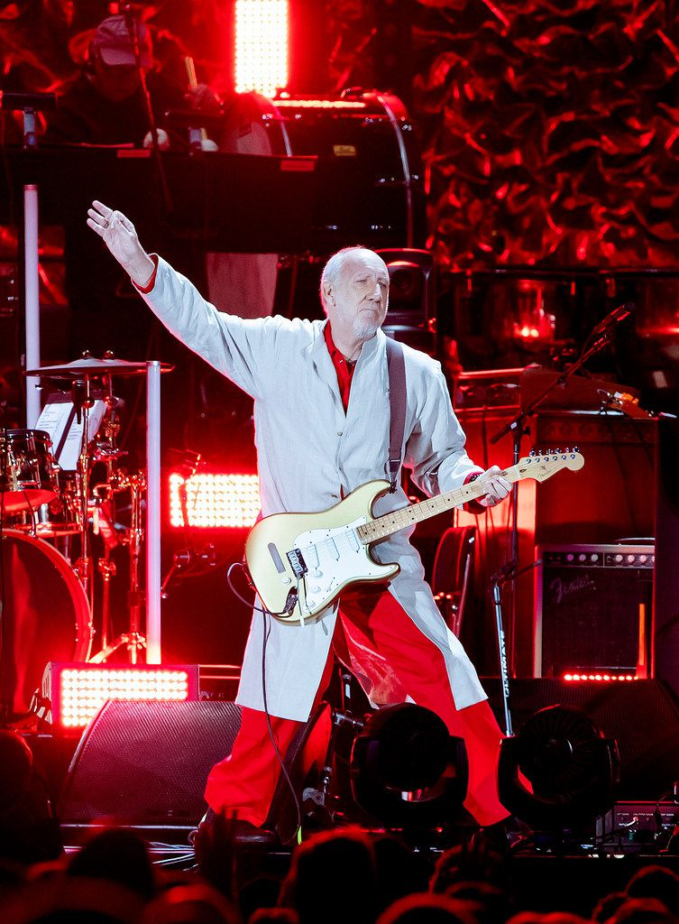Pete Townshend of The Who performs at Fenway Park on Friday, Sept. 13, 2019, in Boston.