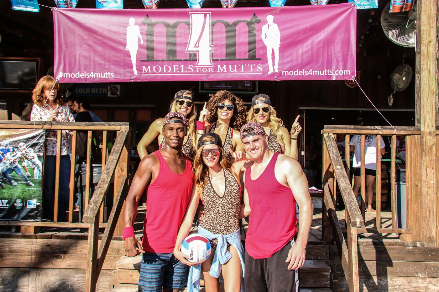 Team Twerk at Models 4 Mutts Sand Volleyball tournament for Operation Kindness, which was held at Sandbar Cantina and Grill on September 19, 2015