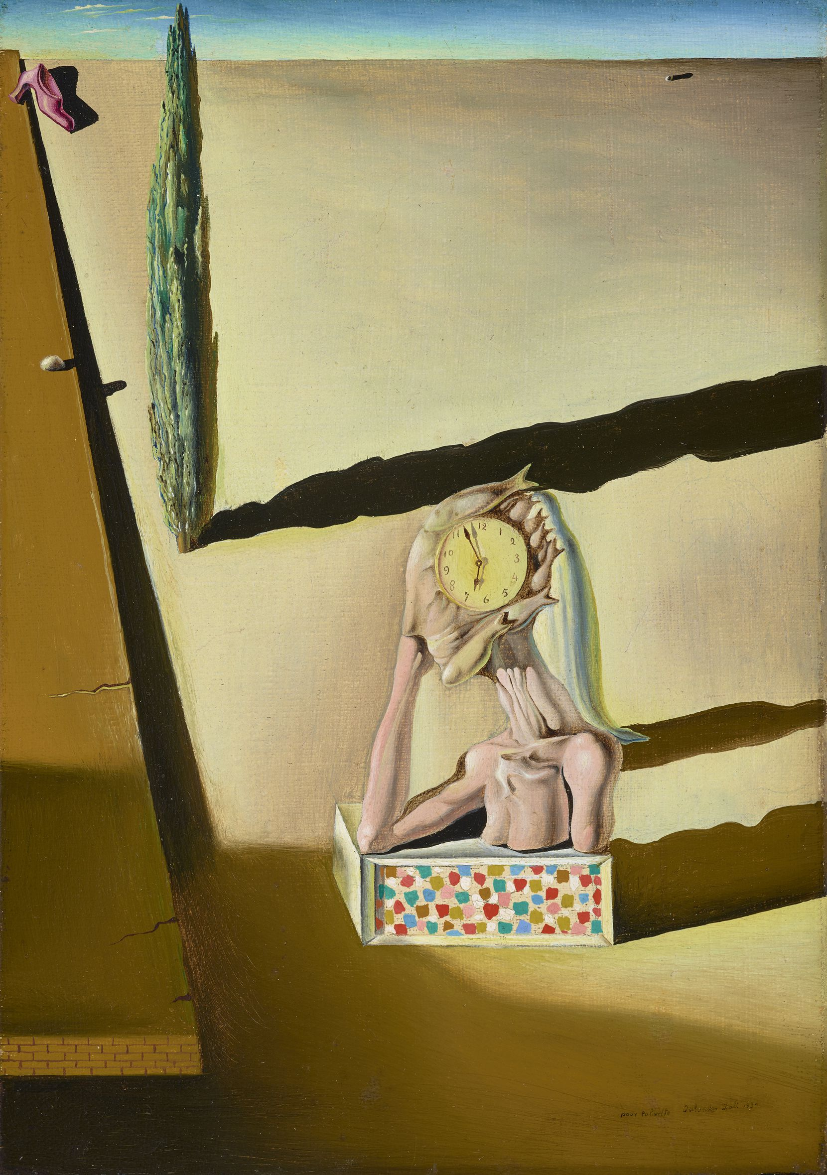 """Salvador Dali, (Spanish, 1904 1989), """"The Fish Man (L'homme poisson), 1930."""" Meadows Museum, SMU, Dallas. Museum purchase with funds from The Meadows Foundation, Holly Bock, Doug Deason, Mrs. Eugene McDermott, Linda P. and William A. Custard, and Gwen and Richard Irwin; MM.2014.11. Photo by Brad Flowers."""