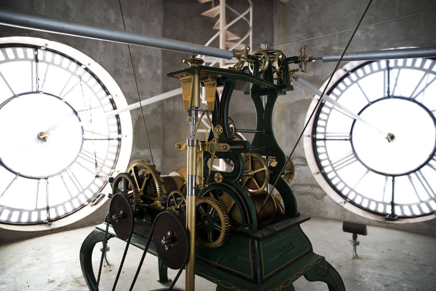 Before moving the clock forward, Roeser will take apart its motor to clean and oil all the parts.