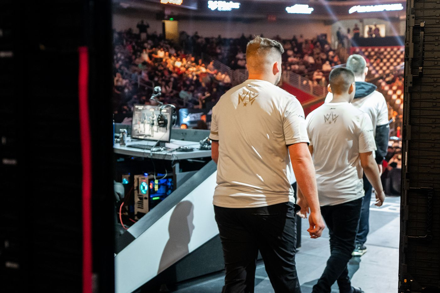 The Dallas Empire take the stage as they're introduced for their elimination match against the Toronto Ultra at the Call of Duty league playoffs at the Galen Center on Saturday, August 21, 2021 in Los Angeles, California. (Justin L. Stewart/Special Contributor)